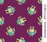 robot concept flat icon eps10... | Shutterstock .eps vector #297176612