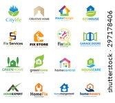 home and real estate logo... | Shutterstock .eps vector #297178406
