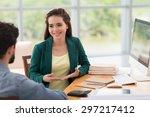 beautiful vietnamese business... | Shutterstock . vector #297217412