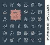 outline web icon set   drink ... | Shutterstock .eps vector #297231266