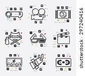 cinema line infographic... | Shutterstock .eps vector #297240416
