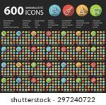 set of 600 universal flat... | Shutterstock .eps vector #297240722