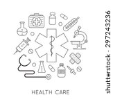 medical icons. design elements... | Shutterstock .eps vector #297243236