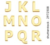 gold 3d letters from j to r | Shutterstock . vector #2972508