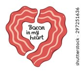 bacon heart design template for ... | Shutterstock .eps vector #297251636