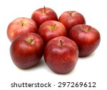 ripe red apple isolated on... | Shutterstock . vector #297269612