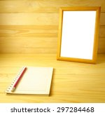 classic wooden frame and... | Shutterstock . vector #297284468
