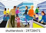 people in supermarket | Shutterstock .eps vector #29728471