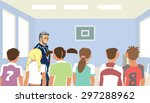 physical education teacher at... | Shutterstock . vector #297288962