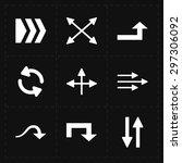 9 flat modern arrows | Shutterstock .eps vector #297306092