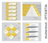 collection of 4 yellow color... | Shutterstock .eps vector #297328736