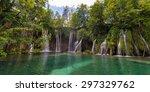 falling water streams. galovac  ... | Shutterstock . vector #297329762