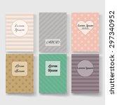 set of templates for booklet ...   Shutterstock .eps vector #297340952