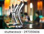 beer tab in night club bar   Shutterstock . vector #297350606