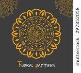 floral circular symmetric... | Shutterstock .eps vector #297352058