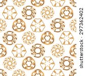 abstract golden chains circles... | Shutterstock .eps vector #297362402