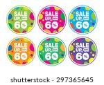 sale wobble colorful 60     Shutterstock .eps vector #297365645