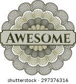 awesome linear rosette | Shutterstock .eps vector #297376316