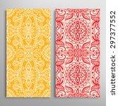 vector seamless vertical... | Shutterstock .eps vector #297377552