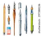 drawing crafts. vector... | Shutterstock .eps vector #297388136