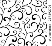 vector black white organic... | Shutterstock .eps vector #297392705