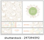 set of business cards  pattern  ... | Shutterstock .eps vector #297394592