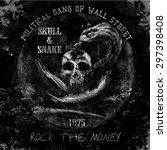 skull and snake fashion... | Shutterstock .eps vector #297398408