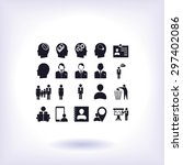 business man icons | Shutterstock .eps vector #297402086