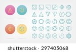 collection of 30 geometric... | Shutterstock .eps vector #297405068