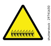 razor wire hazard sign | Shutterstock .eps vector #29741650