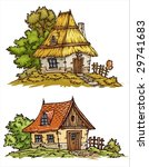 Cartoons Old Cottages