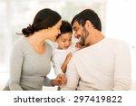 lovely indian family spending... | Shutterstock . vector #297419822