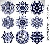 mandala  vector mandala  floral ... | Shutterstock .eps vector #297434942