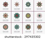 mandala. vintage decorative... | Shutterstock .eps vector #297435302