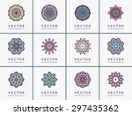 mandala. vintage decorative... | Shutterstock .eps vector #297435362