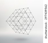 cube of lines and dots. cube of ...