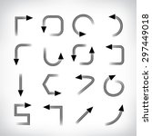set of arrow icons  vector | Shutterstock .eps vector #297449018