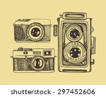 vector card with hand drawn... | Shutterstock .eps vector #297452606