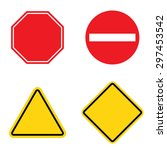 blank road sign set