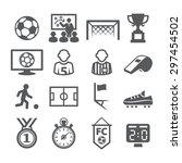 soccer icons | Shutterstock . vector #297454502