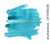 brush stroke. acrylic paint... | Shutterstock .eps vector #297458108