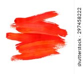 brush stroke. acrylic paint... | Shutterstock .eps vector #297458222