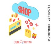 shopping vector icon...