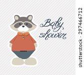 baby shower invitation card. | Shutterstock .eps vector #297466712