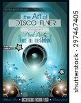 club disco flyer set without... | Shutterstock .eps vector #297467405