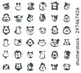 animal head icons and avatar... | Shutterstock .eps vector #297467426