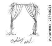 wedding arch. decoration.... | Shutterstock .eps vector #297468356