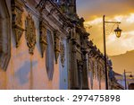 sunset colonial architecture in ... | Shutterstock . vector #297475898