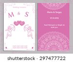 vector set of wedding... | Shutterstock .eps vector #297477722