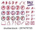 hand draw vector   grades... | Shutterstock .eps vector #297479735